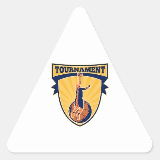 Escudo de la bola de la Endecha-para arriba del ju Calcomanía Trianguladas Personalizadas