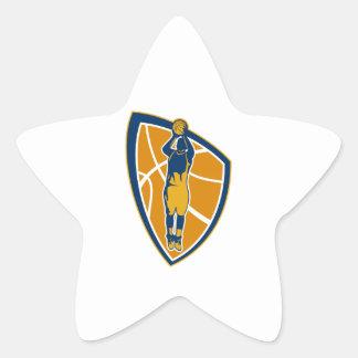 Escudo de la bola del tiro en suspensión del jugad calcomanía forma de estrella personalizada