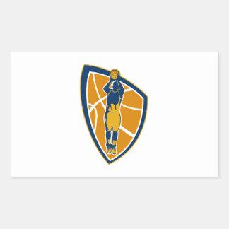 Escudo de la bola del tiro en suspensión del jugad pegatina