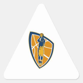 Escudo de la bola del tiro en suspensión del jugad pegatina de triangulo personalizadas