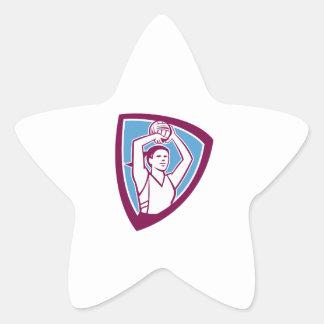 Escudo de la bola del tiroteo del jugador del pegatinas forma de estrellaes