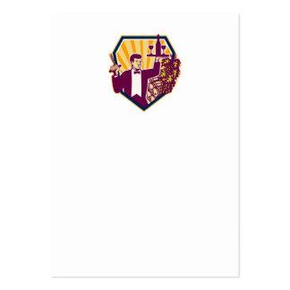 Escudo de la botella de copa de vino del servicio  tarjetas de visita