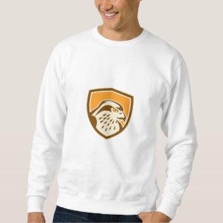Escudo de la cabeza del halcón de peregrino retro pulovers sudaderas