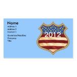 Escudo de la campaña plantilla de tarjeta personal