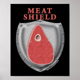 Escudo de la carne poster