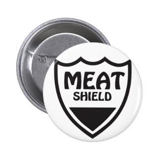 Escudo de la carne pin redondo de 2 pulgadas