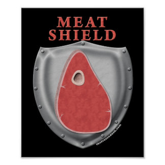 Escudo de la carne póster