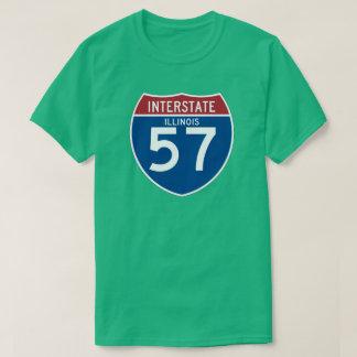 Escudo de la carretera nacional de Illinois IL Playera