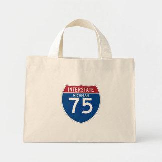 Escudo de la carretera nacional de Michigan MI Bolsa Tela Pequeña