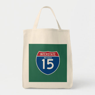Escudo de la carretera nacional de Nevada Bolsa Tela Para La Compra