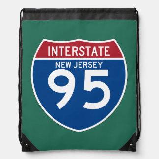 Escudo de la carretera nacional de New Jersey NJ Mochila