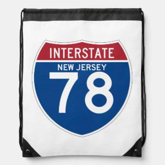 Escudo de la carretera nacional de New Jersey NJ Mochilas