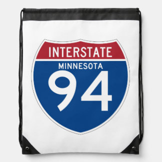 Escudo de la carretera nacional del manganeso I-94 Mochila