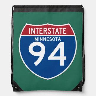 Escudo de la carretera nacional del manganeso I-94 Mochilas
