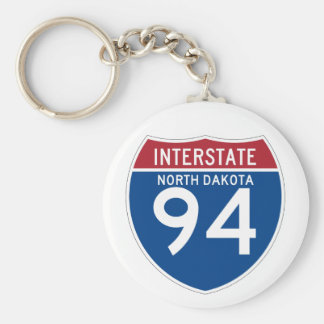 Escudo de la carretera nacional del ND I-94 de Llavero Redondo Tipo Pin