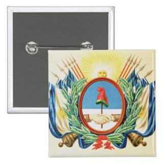 Escudo de la confederación de la Argentina Pin Cuadrado