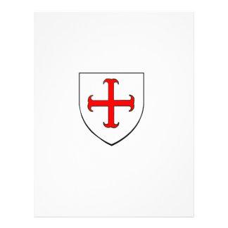 Escudo de la cruzada de Templar de los caballeros Plantilla De Membrete