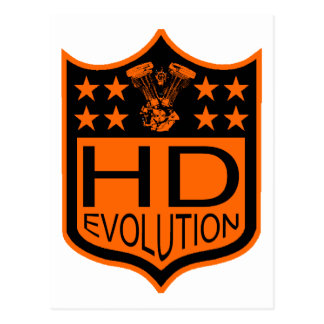 Escudo de la evolución tarjeta postal