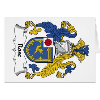 Escudo de la familia color de rosa tarjeta de felicitación