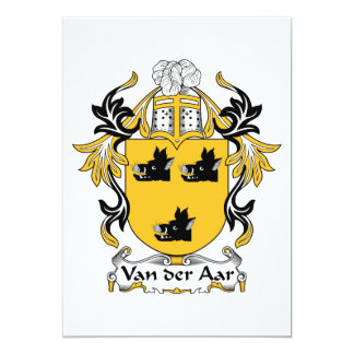 """Escudo de la familia de Aar del der de Van Invitación 5"""" X 7"""""""