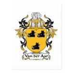 Escudo de la familia de Aar del der de Van Tarjeta Postal