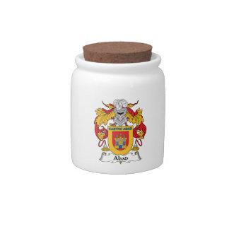 Escudo de la familia de Abad Platos Para Caramelos