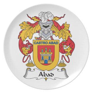 Escudo de la familia de Abad Plato De Cena