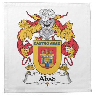 Escudo de la familia de Abad Servilleta De Papel