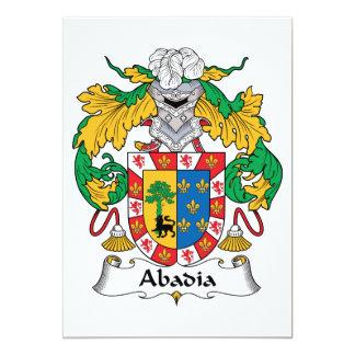 Escudo de la familia de Abadia Invitación 12,7 X 17,8 Cm