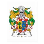 Escudo de la familia de Abadia Tarjetas Postales