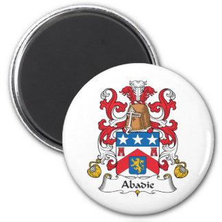 Escudo de la familia de Abadie Imán Redondo 5 Cm