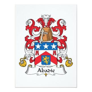 Escudo de la familia de Abadie Invitación 16,5 X 22,2 Cm