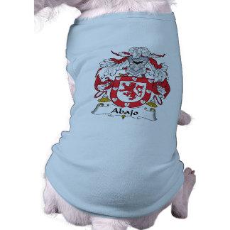 Escudo de la familia de Abajo Camisa De Mascota