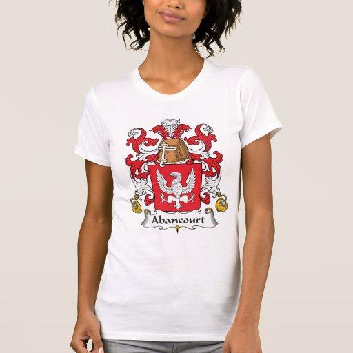 Escudo de la familia de Abancourt Camisetas