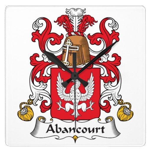 Escudo de la familia de Abancourt Reloj