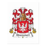 Escudo de la familia de Abancourt Tarjetas Postales