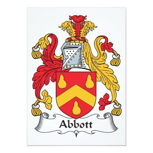 """Escudo de la familia de Abbott Invitación 5"""" X 7"""""""