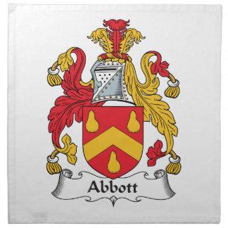 Escudo de la familia de Abbott Servilleta
