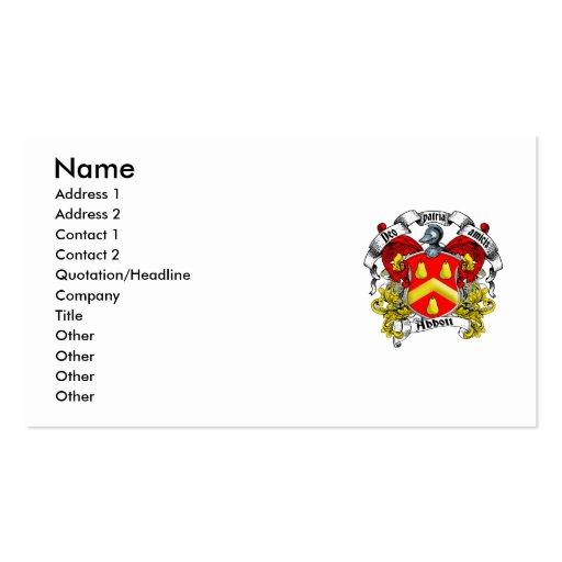 Escudo de la familia de Abbott Plantilla De Tarjeta Personal