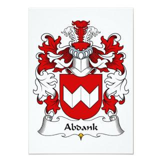 """Escudo de la familia de Abdank Invitación 5"""" X 7"""""""