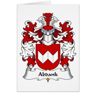 Escudo de la familia de Abdank Tarjeta De Felicitación