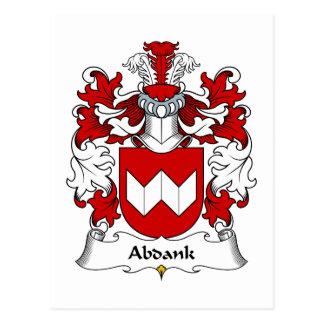 Escudo de la familia de Abdank Tarjetas Postales