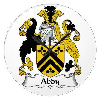 Escudo de la familia de Abdy Reloj Redondo Grande
