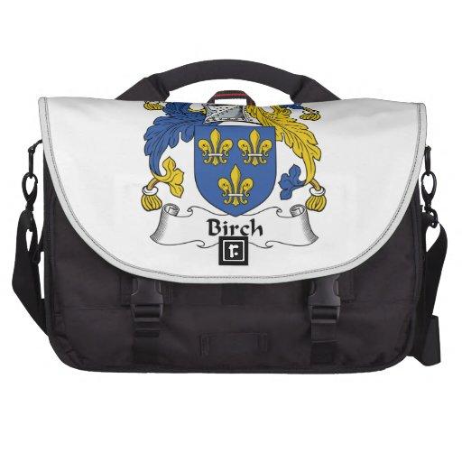 Escudo de la familia de abedul bolsas para ordenador