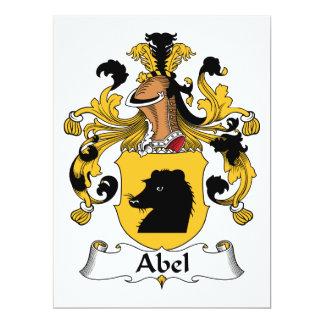 """Escudo de la familia de Abel Invitación 6.5"""" X 8.75"""""""