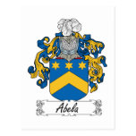 Escudo de la familia de Abela Postal