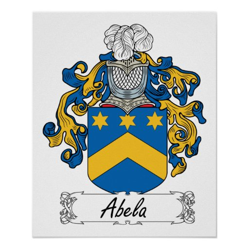Escudo de la familia de Abela Póster