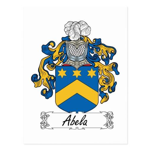 Escudo de la familia de Abela Tarjetas Postales