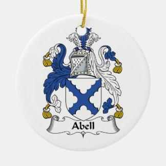 Escudo de la familia de Abell Ornato