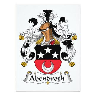 """Escudo de la familia de Abendroth Invitación 6.5"""" X 8.75"""""""